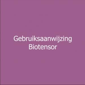 gebruiksaanwijzing biotensor