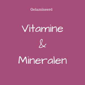 vitamine mineralen tekort pendelen intuitie