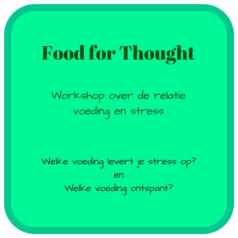 workshop voeding en stress gezondheid biotensor spiertesten
