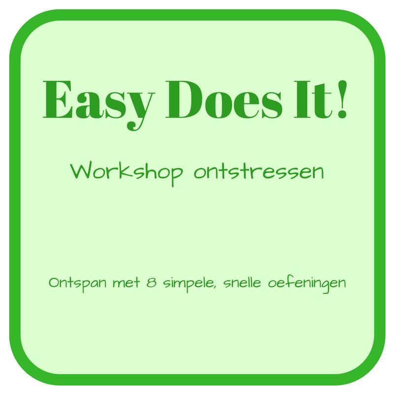 workshop ontstressen gezondheid
